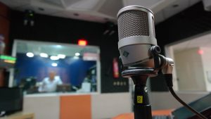 Radio Station with Microphone